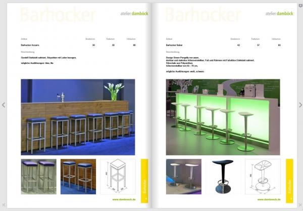 Der Messemobiliar-Katalog von atelier damböck